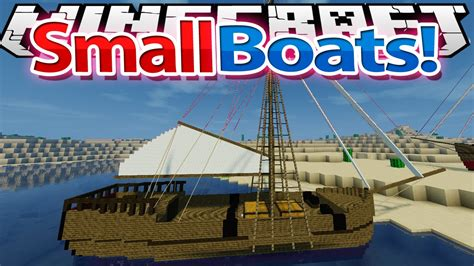 minecraft working boat mod minecraft mod showcase small boats mod 1 7 10 youtube