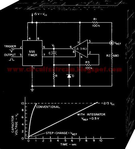 integrator electronic circuit simple integrator multiplies 555 delay circuit diagram electronic circuit diagrams schematics