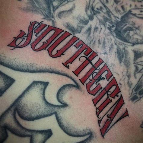 atown tattoo quot southern quot lettering