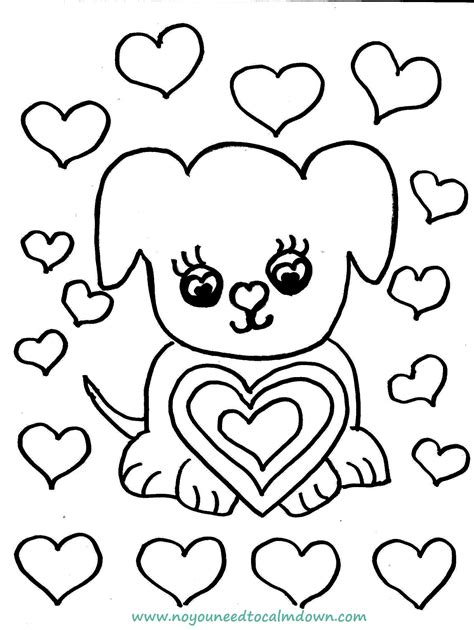 colors free printables no you need to calm down dog coloring page feature no you need to calm down