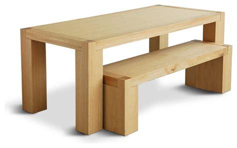 Gus Modern Chunk Dining Table Natural Oak Modern Gus Modern Dining Table