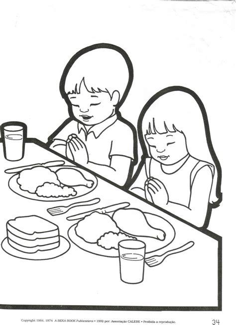 imagenes para orar oracion por los alimentos para colorear dibujos