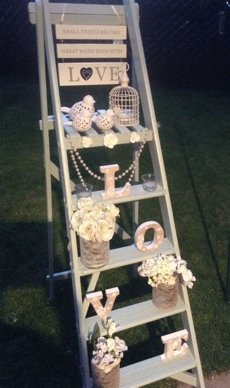 wedding ladder statement piece available to hire based in