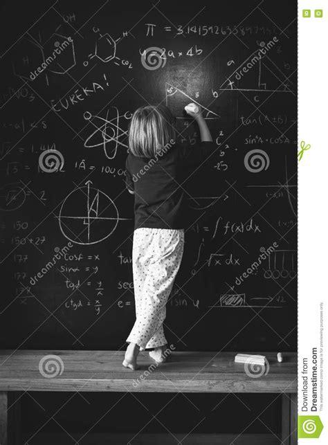 blackboard drawing creative imagination idea concept stock