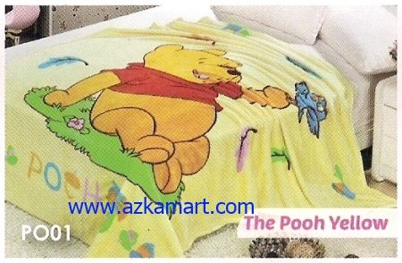 Selimut Soft Panel Winnie The Pooh blossom selimut toko selimut sprei bedcover murah