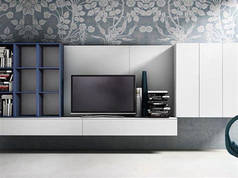 libreria alveare mobili soggiorno attuale sospeso completo di porta tv e