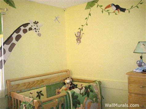 jungle animals wall stickers jungle wall murals exles of jungle theme murals