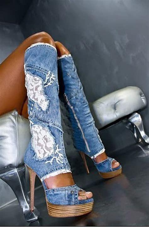 2015 european womens botas cuto ut blue denim boots for