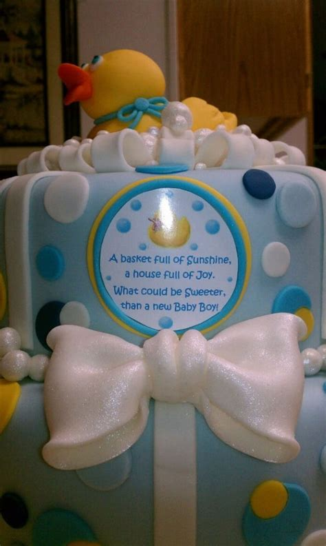 Rubber Duckie Baby Shower Cake by Rubber Duckie Baby Shower Cake Cakecentral