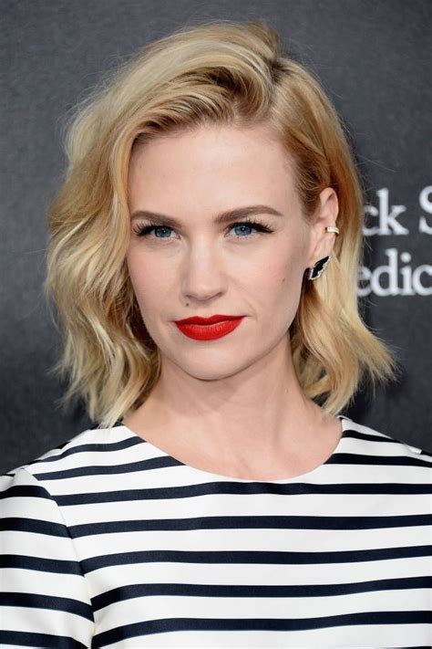 blonde bob red lips blonde wavy hairstyles for women over 40 popular haircuts