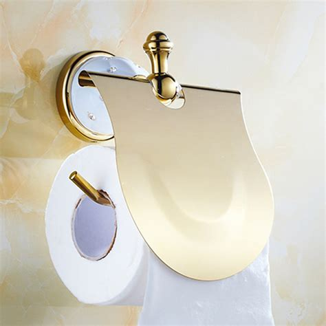 luxury toilet paper holder luxury toilet paper holder solid brass golden finished