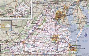 Map Virginia by Virginia Road Map