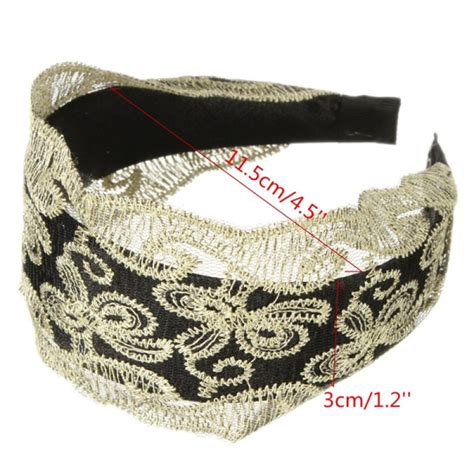 Lace Bow Hair Band buy vintage womens lace headband hairbow hair band