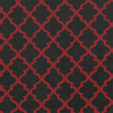 black and red upholstery fabric black and red quatrefoil fabric fabric finder s inc
