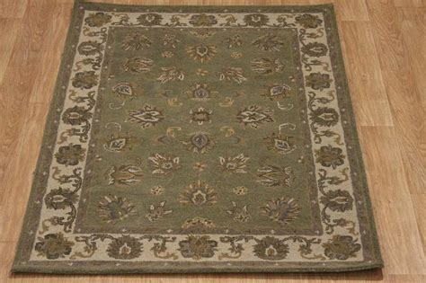 Wool Area Rugs 5x7 Green Nourison Brand 5x7 Oushak Agra Area Rug Wool Carpet Ebay