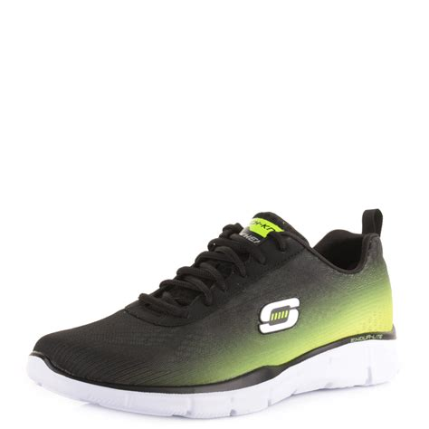 skechers running shoes mens mens skechers equalizer this way black lime running shoes