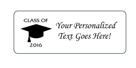 graduation labels template free personalized class of 2016 graduation return address