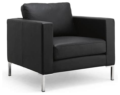 modern black chair portobello black leather easy chair modern living room