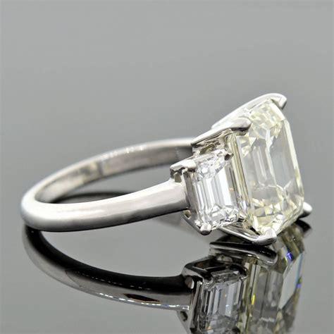 contemporary 4 13 carat emerald cut platinum 3