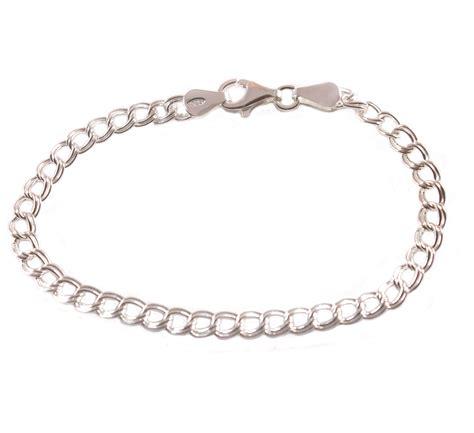 7 quot sterling silver link charm bracelet boxed ebay