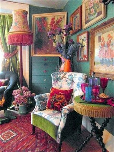living room in bohemian colors more is more