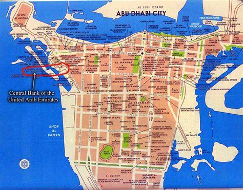 uae road map detailed road map of abu dhabi city abu dhabi city
