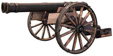 sulle ruote vecchio cannone sulle ruote di legno illustrazione di