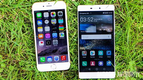 iphone 6 vs android apple iphone 6 vs huawei p8 on android authority