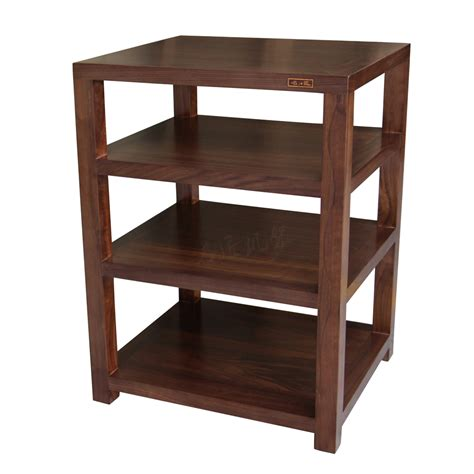 chinese solid wood cabinet audiovisual sculptor rack walnut fine single four story stereo rack
