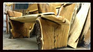 Pine Wood Bench Hand Made Live Edge Rustic Bench Crotch Wood Slabs By