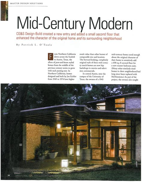 mid century modern remodeling b e l t