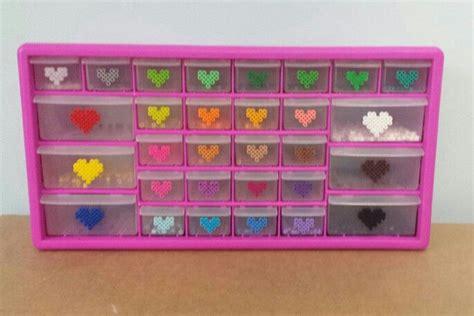 perler bead storage perler bead storage organization drawers big pink box sold