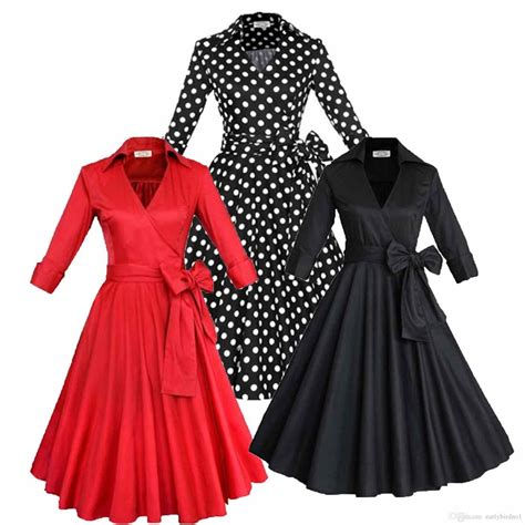 Dress Casual Lengan Pendek Fashion vintage style clothing casual fashion custom new day dresses tea clothes new vintage style