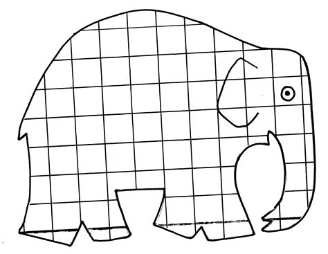 Elma The Patchwork Elephant - elmer coloring page elmer the elephant coloring page