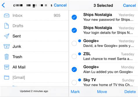 how to delete email accounts on the iphone how to delete emails from iphone but not mail server