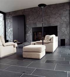 Tile Flooring Ideas For Living Room Black Limestone Floor Tiles Ideas For Contemporary Living Room Flooring Ideas Floor Design