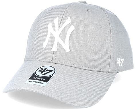 grey nyc new york yankees mvp grey adjustable 47 brand start hatstore co uk