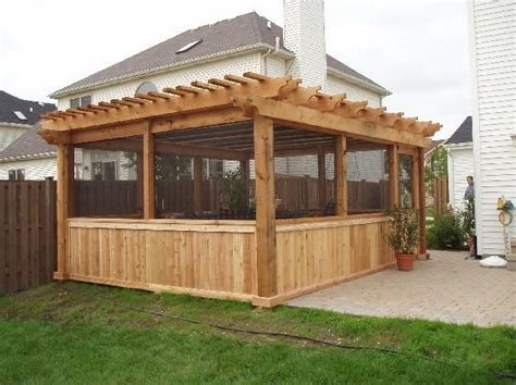 pergola screen ideas 46 best images about pergola kits on decks cedar pergola and shades