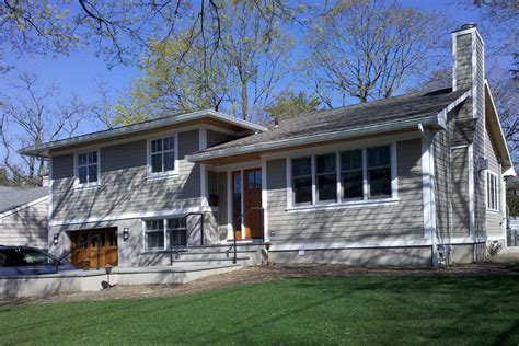 great split level exterior remodel in ny trim and siding