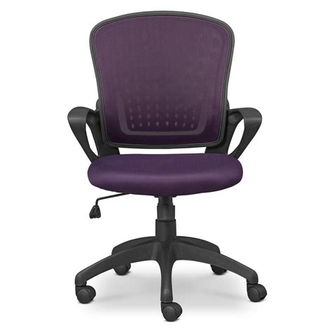 Dexter Office Chair Purple Value City Furniture Purple Desk Chair