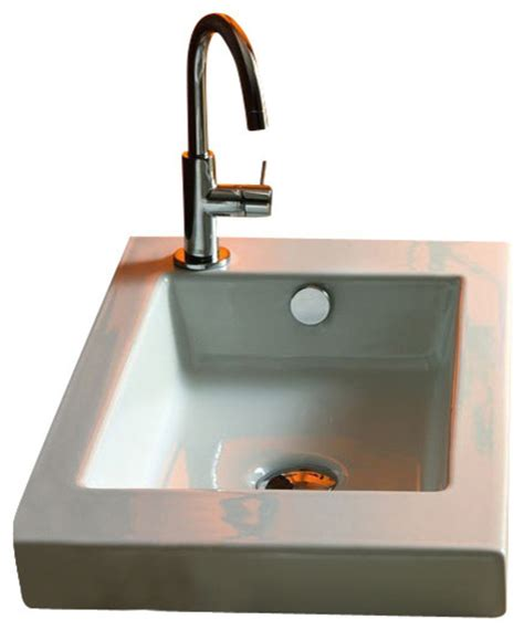 built in bathroom sink tecla rectangular white ceramic wall mounted or built