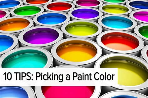 tips for picking paint colors top 10 tips for picking a paint color