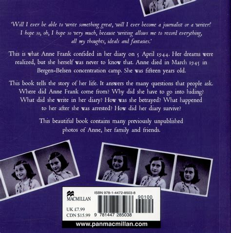 anne frank biography key stage 2 the life of anne frank by anne frank house 9781447285038