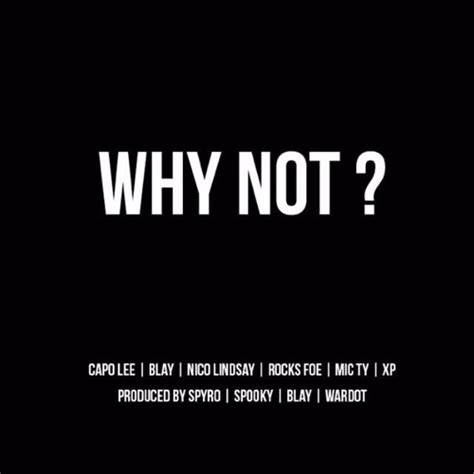 why not why not mixtape by capolee capo free listening on