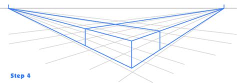 2 Point Perspective House Drawing Lesson by Aathi Drawing In 2 Point Perspective Step