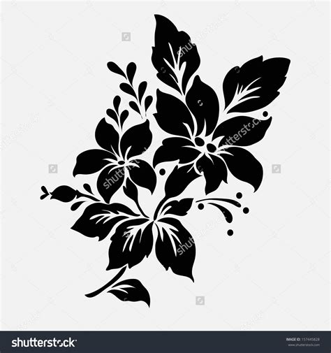 flower pattern design vector flower silhouette pattern stock vectors vector clip art