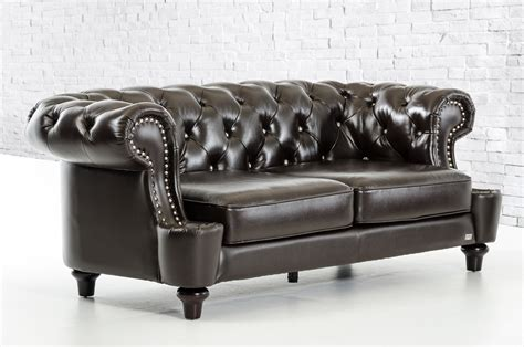transitional leather sofa divani casa belinda transitional chocolate italian