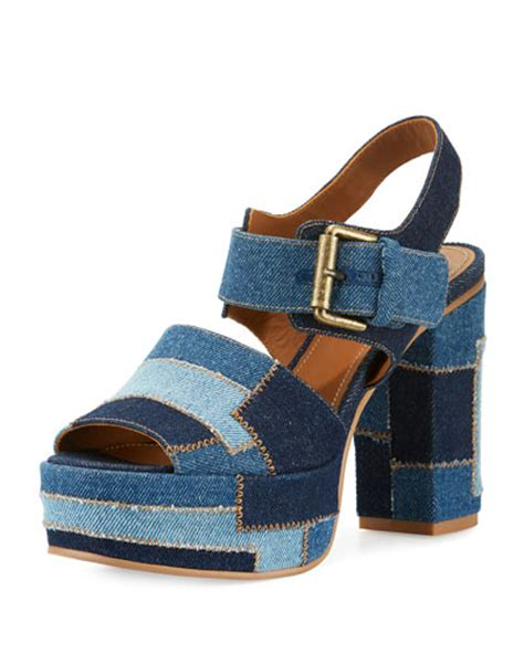 Marc By Marc Patchwork Combo Peep Toe Wedge by S Shoes Hiking Boots At Neiman
