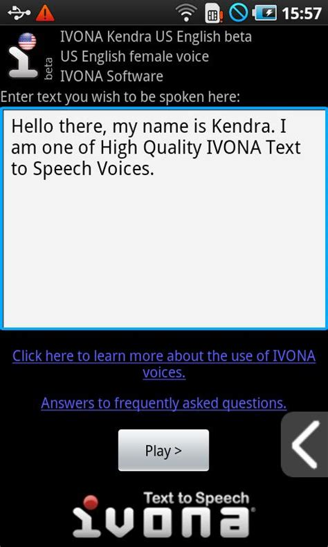 android text to speech ivona text to speech hq para android