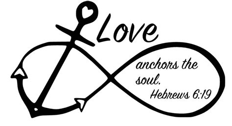 infinity anchor anchor infinity symbol anchors the soul hebrews 6 19